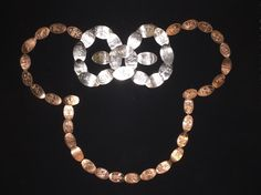 Disney pressed coins Minnie Mouse. Disney World pennies and Quarters