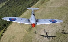 RAF PIC OF THE DAY: Spitfire MK356 of the Battle of Britain Memorial Flight. PIC taken from rear turret of Lancaster.