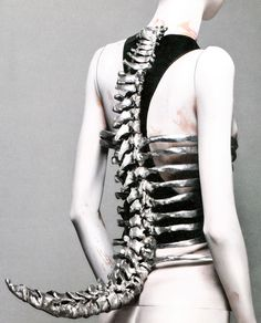 "Shaun Leane for Alexander McQueen, ""Spine"" Corset, Untitled  S/S 98"