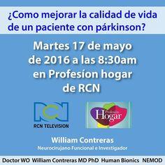 Hoy en @profesionhogarrcn a las 8:30am con @GicWilliam  #HablemosDeParkinson Como mejorar la calidad de vida de un paciente con párkinson?  @canalrcnoficial  @carloscalero29 @yanethwaldman @hubionics  #Colombia #elgraninventor #luchemoscontraelparkinson #parkinson #WilliamContreras #hablemosdeparkinson #Colombia #Medicina #Ciencia #Bogotá #tecnología #instatech #hightech #ElGranInventorColombia #Reality #Inventor #Emprendedor #Proyecto #Empresario #Investigación #Idea #Exito #Aplicación #App…