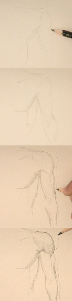 how to draw arm front view