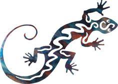 Gecko Indoor Outdoor Metal Wall Art Southwest Décor by Steel Images. $49.95
