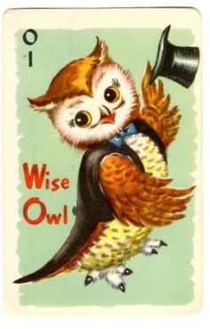 Wise Owl.. no top hat.. Nurse cap and stethoscope