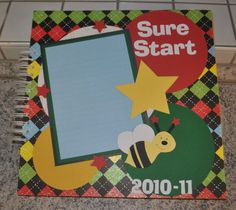 School year folder- One page per month of the school year to save artwork and school work.