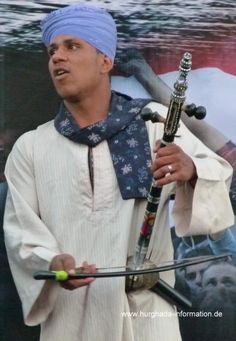 Rababa spieler, ägyptische Folklore