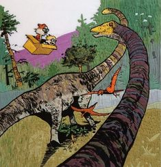 After starting this incredible embroidered Calvin and Hobbes Illustration for her son's 7th birthday, Laura Hartrich persevered with rendering every excruc