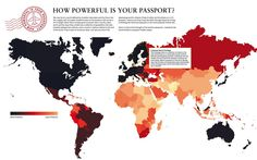 How powerful is your passport? Measured by for how many countries one has to obtain visa.