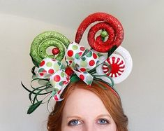 12 days of christmas costumes Candy cane headband holiday headband christmas headband Grinch Christmas Party, Christmas Hair, Christmas Costumes, Christmas Items, Christmas Sweaters, Christmas Crafts, Grinch Party, Christmas Wreaths, Whoville Costumes