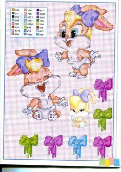 Baby Lola Bunny schema punto croce - magiedifilo.it punto croce uncinetto schemi gratis hobby creativi