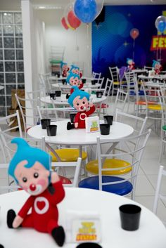 Plim Plim children's theme party - Celebrat : Home of Celebration, Events to Celebrate, Wishes, Gifts ideas and more ! Birthday Sweets, Party Sweets, Party Cakes, Birthday Party Decorations, Birthday Candles, Party Themes, Ideas Para Fiestas, Cake Table, Beautiful Children
