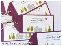 www.kreativpapier.com Geschenkanhänger mit den Produkten aus dem neuen Herbst-/Winterkatalog 2017/2018 #Stampin`Up! #Weihnachten daheim #Winterstädtchen Weihnachten