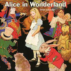 Alice in Wonderland 2014 Wall Calendar