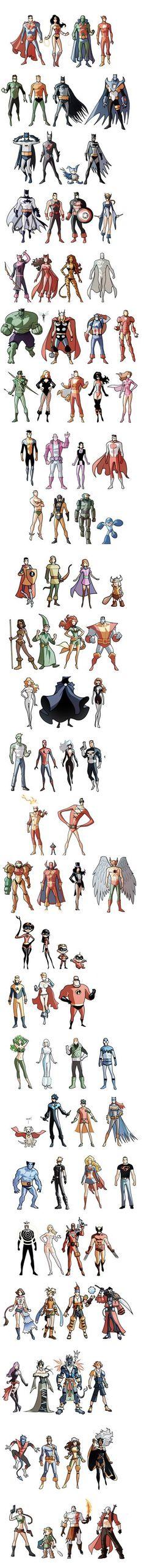 AWESOME!!! (but no She-Ra, He-Man, Tifa, Tera, Rinoa, Aerith, or Beatrix? SMH) By Marcio Takara