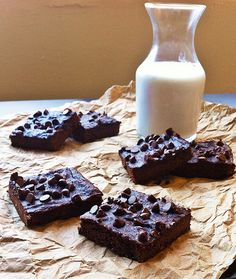 Intensely Chocolate Sweet Potato Brownies #TheFreckledFoodie