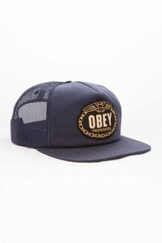 66a9e26451b  Obey Chains  Trucker - Navy Love Hat