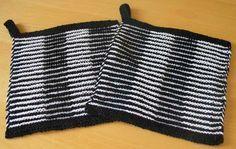 Knitting  -  Två grytlappar i skuggstickning Double Knitting, Diy And Crafts, Crochet, Pattern, Inspiration, Women, Yin Yang, Knits, Fashion