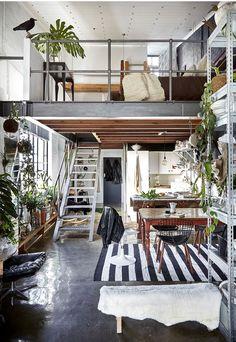 Rupert Smith's industrial loft, Cape Town