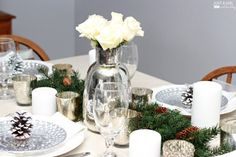 Love this beautiful Christmas table from Just a Girl and Her Blog!