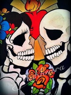 """Amor Eterno"" #Kahlovera Art #Dia De Los Muertos #Day Of The Dead Art"