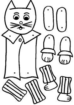 Gatto disegni da colorare Paper Puppets, Craft Club, Pinocchio, Jumping Jacks, Conte, Pet Accessories, Altered Art, Paper Dolls, Crafts For Kids
