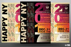 """Check out my @Behance project: """"New Year Flyer Template V3""""…"""