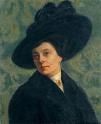 Alphonse FAURE, (Toulouse, 1865 - Toulouse, 1947), Portrait de femme au chapeau, 1911, Inv. 86 2 1. Non exposée. © Musée des Augustins, Toulouse, photographie Bernard DELORME