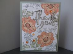 Thank you card made using Altenew Beautiful Day stamps