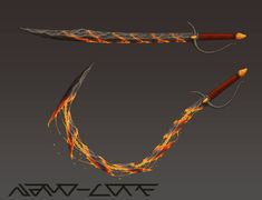 Lavastone Whip Sword Commission by Nano-Core on DeviantArt Anime Weapons, Sci Fi Weapons, Weapon Concept Art, Armor Concept, Weapons Guns, Fantasy Sword, Fantasy Armor, Fantasy Weapons, Fantasy Katana