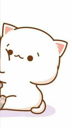 Cute Couple Wallpaper, Cute Cat Wallpaper, Funny Phone Wallpaper, Kawaii Wallpaper, Cute Wallpaper Backgrounds, Cute Cartoon Wallpapers, Chibi Cat, Cute Chibi, Whats Wallpaper