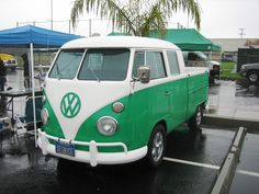 A VW van truck...yep, want one!!
