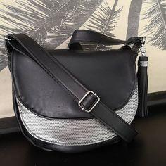 Atelier24 sur Instagram: Une jolie commande ! Une besace tout cuir, noir et motifs argent de chez @deco_cuir. Modèle Sacotin, La Musette…