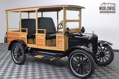 1917 Model T Ford Antique Trucks, Vintage Trucks, Antique Cars, Woody Wagon, Old Pickup Trucks, Ford Classic Cars, Sweet Cars, Top Cars, Car Ford