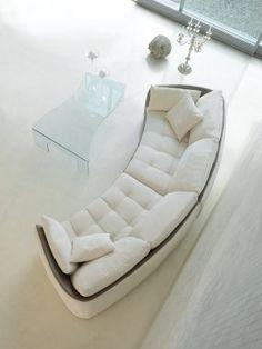 Immagini 033 - curved sofa Home Decor Furniture, Sofa Furniture, Sofa Chair, Furniture Design, Living Room Sofa Design, Living Room Designs, Small Living Rooms, Home And Living, Sofas