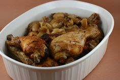 A Year of Slow Cooking: Slow Cooker 20 to 40 Clove Garlic Chicken