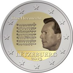 2 euro Luxembourg 2013, The National Anthem of the Grad-Duchy of Luxembourg