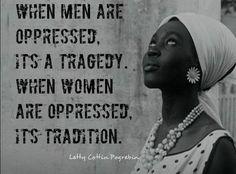Oppressed.