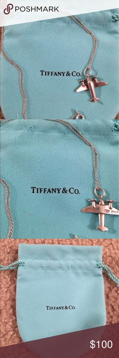 Tiffany and co airplane charm necklace Sterling silver charm necklace Tiffany & Co. Jewelry Necklaces