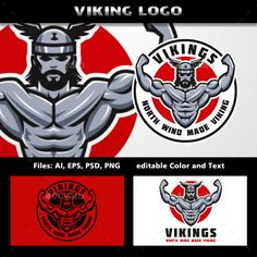 Vikings Logo — Photoshop PSD #iron #powerlifting • Available here → https://graphicriver.net/item/vikings-logo/11789844?ref=pxcr