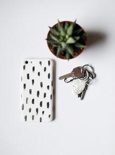 DIY Brushstroke Phone Case