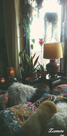 Bohemian Living, Bohemian Decor, Dream Rooms, Cool Rooms, Home Decor Inspiration, Decoration, Home Interior Design, Home And Living, Bedroom Decor