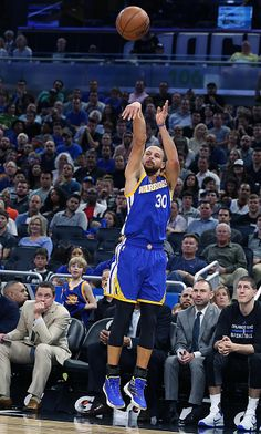 Golden State Warriors guard Stephen Curry shoots a threepoint shot against the Orlando Magic on Sunday Jan 22 2017 at the Amway Center in Orlando Fla