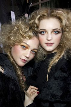 Here are some models in today's society.  They are showing how the Victorian age has had an effect on our generation.  Their makeup is classic Victorian age, with lots of blush.  The big hair on top also shows the volume girls wanted back in the day.