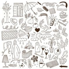Lovely Massive set of doodle summer season photos, clipart cartoon celebration, digital picture format PNG, EPS and AI, Doodle Drawings, Doodle Art, Autumn Doodles, Cartoon Garden, To Do Planner, Bujo Doodles, Doodle Lettering, Clip Art, Bullet Journal Inspiration