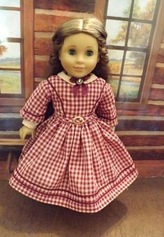 New from Holly at newyorkdolldesigns on eBay! 1850's style Back to School dress for American Girl Marie Grace, Addy, Cecile