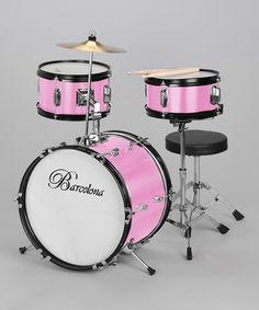 JUST FOUND MY NIECE BELLA'S NEXT PRESENT!!     Take a look at this Pink Junior Drum Set by New Dimensions on #zulily today!