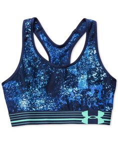 e9caeed8e7 Under Armour HeatGear® Alpha Printed Compression Sports Bra Women - Tops -  Macy s