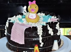 Baby shower cake - made by me!