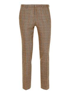 great subtle print Premium Biscotti Check Heritage Fit Suit Pants