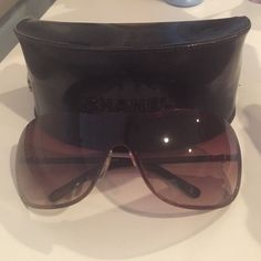 Chanel Pearl Sunglasses Authentic Chanel sunglasses from the Perle collection. Only worn a few times, in great condition!! There may be a few hairline scratches but you would have to look very closely to find any. CHANEL Accessories Sunglasses