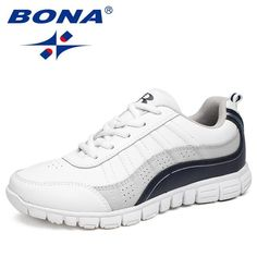 $40.40 | BONA New Hot Style Women Running Shoes Lace Up Athletic Shoes Outdoor Walking Jogging Shoes Comfortable Sneakers Free Shipping Outfit Accessories FromTouchy Style | Free International Shipping. Buy Running Shoes, Running Laces, Lacing Shoes For Running, Jogging Shoes, White Sneakers For Girl, Chunky Sneakers, Shoes Sneakers, White Canvas Shoes, White Shoes